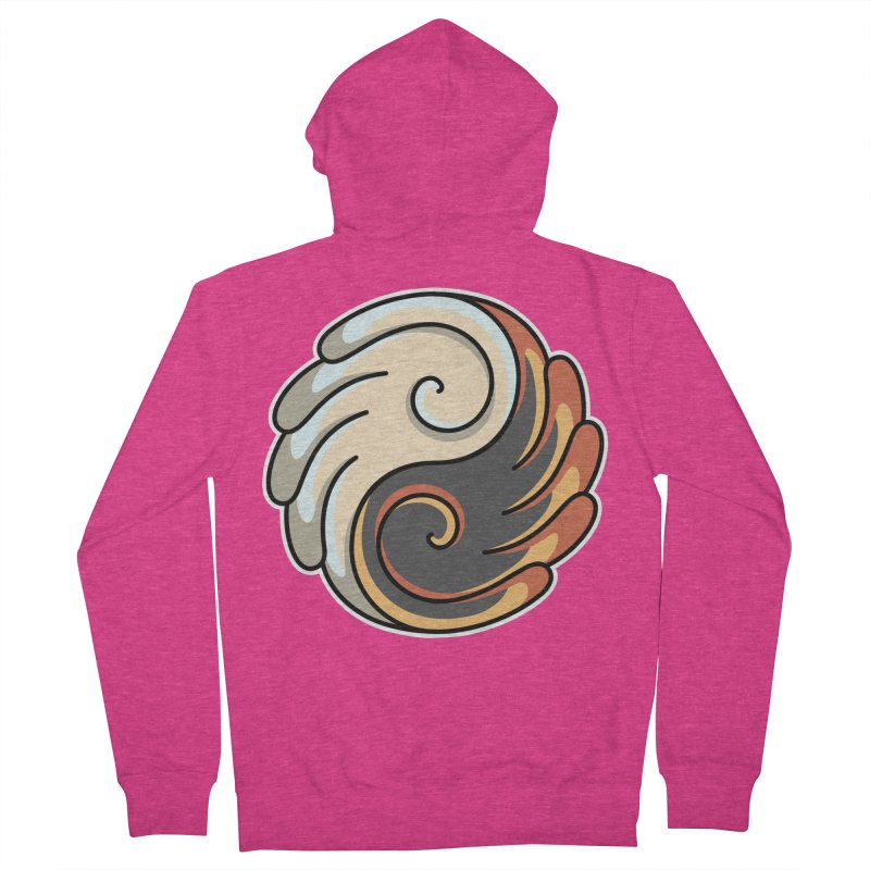 Yin Yang Angel and Demon Wings Women's French Terry Zip-Up Hoody by Flaming Imp's Artist Shop