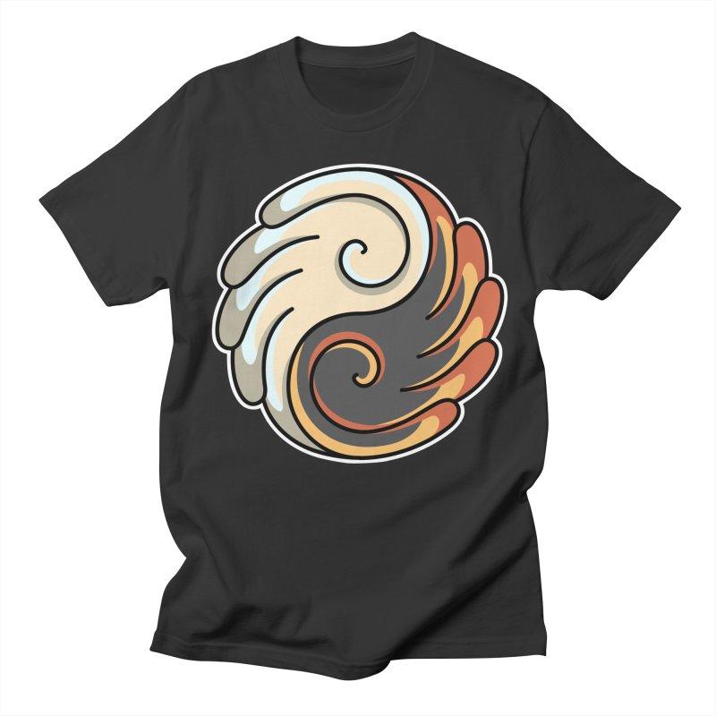 Yin Yang Angel and Demon Wings Women's Regular Unisex T-Shirt by Flaming Imp's Artist Shop