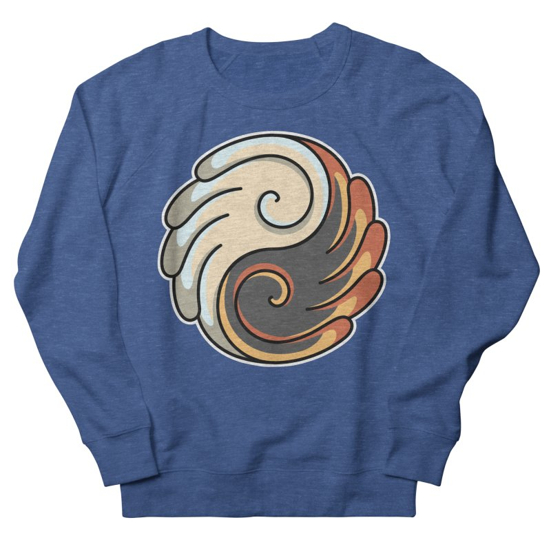 Yin Yang Angel and Demon Wings Men's French Terry Sweatshirt by Flaming Imp's Artist Shop