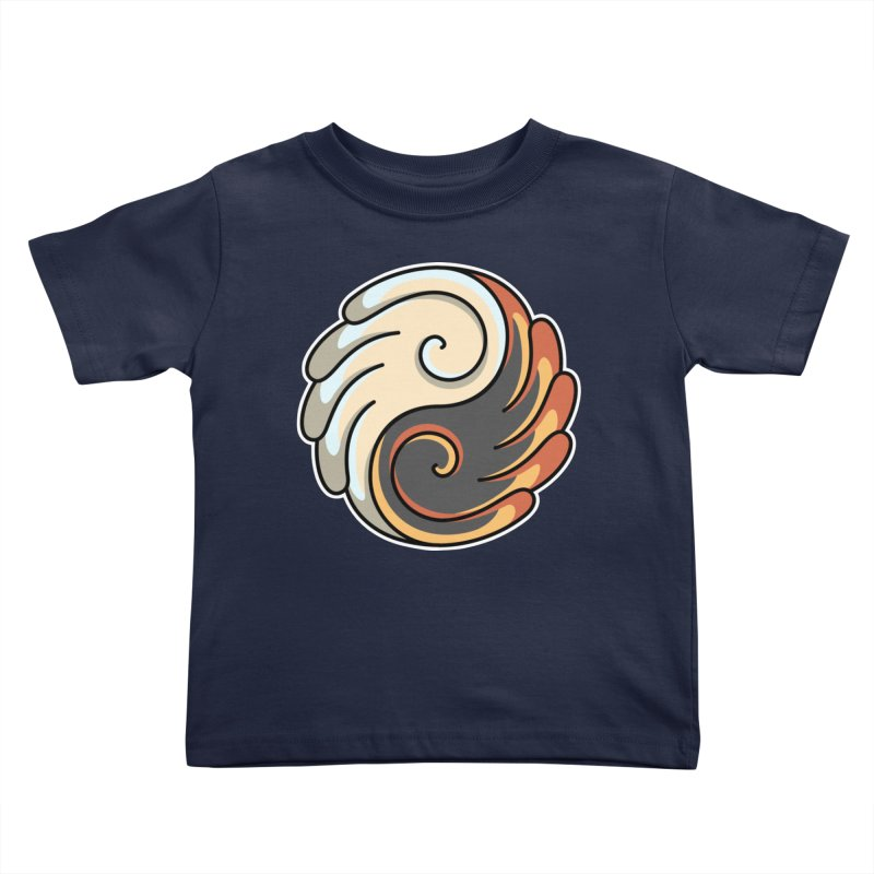 Yin Yang Angel and Demon Wings Kids Toddler T-Shirt by Flaming Imp's Artist Shop