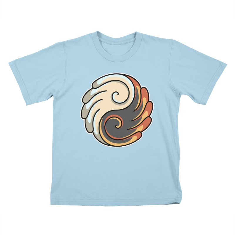 Yin Yang Angel and Demon Wings Kids T-Shirt by Flaming Imp's Artist Shop