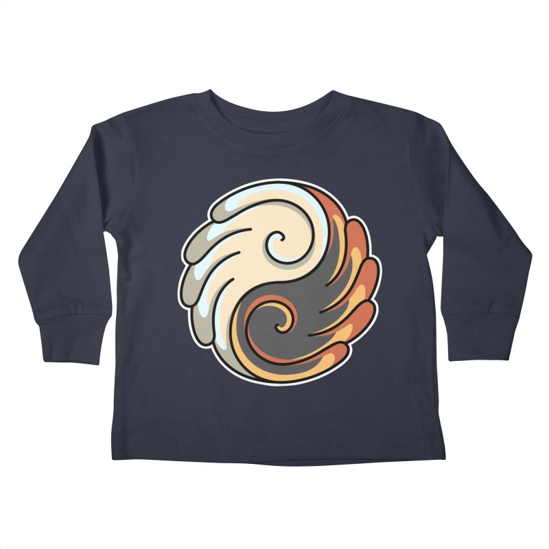 Yin Yang Angel and Demon Wings Kids Toddler Longsleeve T-Shirt by Flaming Imp's Artist Shop