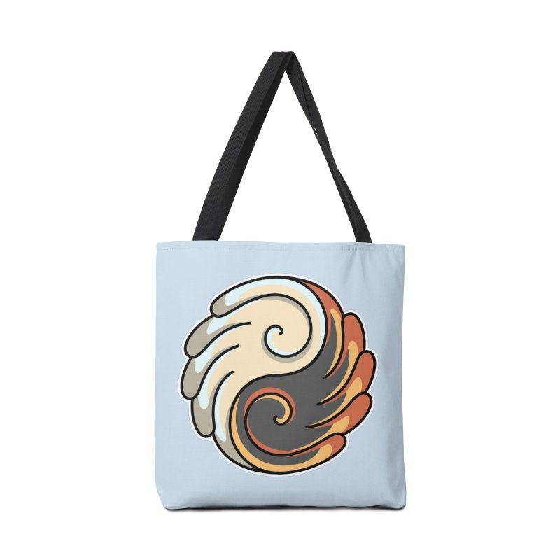 Yin Yang Angel and Demon Wings Accessories Tote Bag Bag by Flaming Imp's Artist Shop