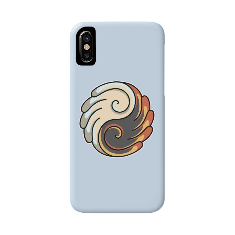 Yin Yang Angel and Demon Wings Accessories Phone Case by Flaming Imp's Artist Shop