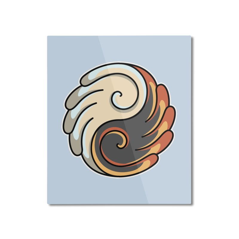 Yin Yang Angel and Demon Wings Home Mounted Aluminum Print by Flaming Imp's Artist Shop