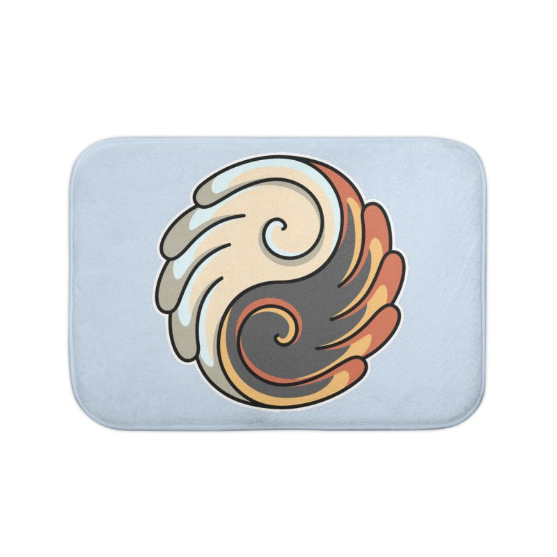 Yin Yang Angel and Demon Wings Home Bath Mat by Flaming Imp's Artist Shop