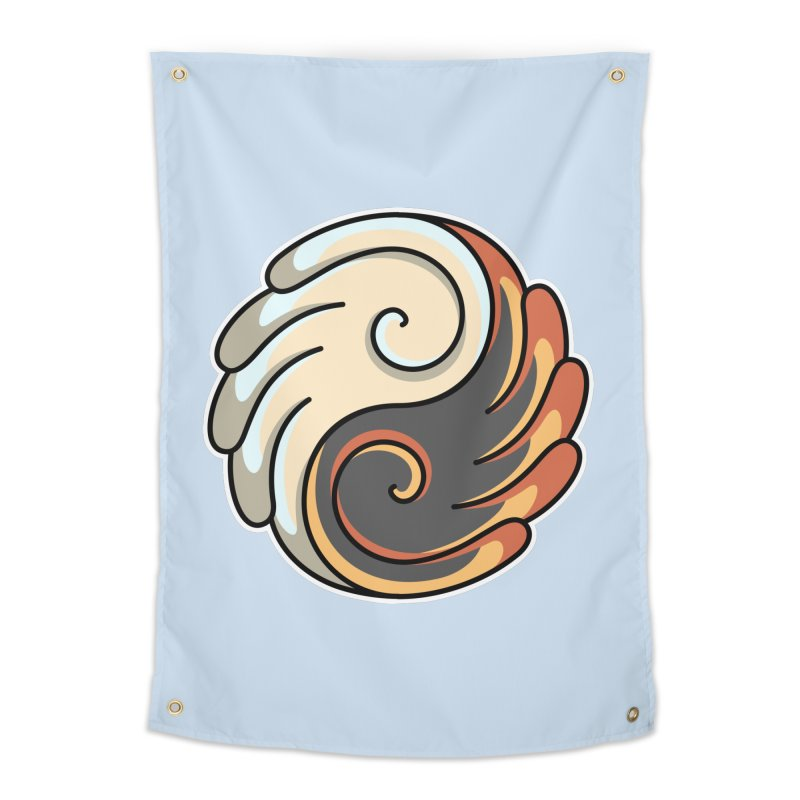 Yin Yang Angel and Demon Wings Home Tapestry by Flaming Imp's Artist Shop