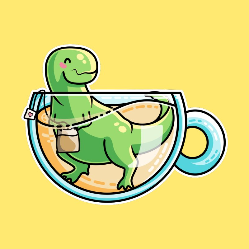 Tea Rex by Flaming Imp's Artist Shop