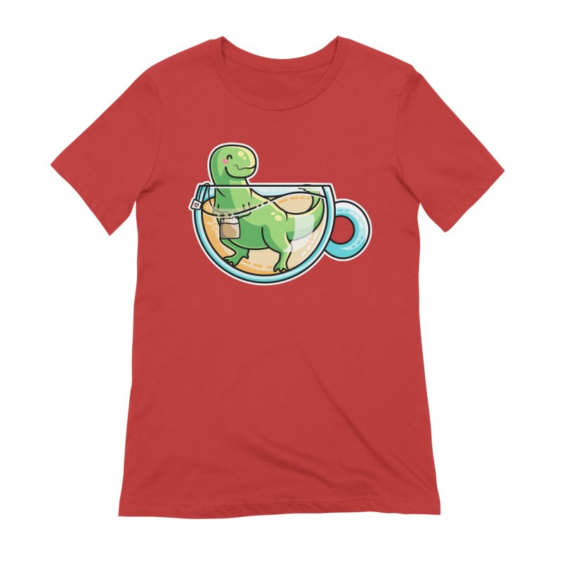 Tea Rex Women's Extra Soft T-Shirt by Flaming Imp's Artist Shop