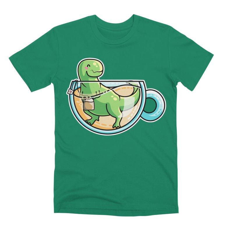 Tea Rex Men's Premium T-Shirt by Flaming Imp's Artist Shop