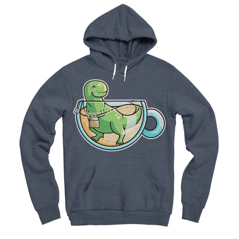 Tea Rex Men's Sponge Fleece Pullover Hoody by Flaming Imp's Artist Shop