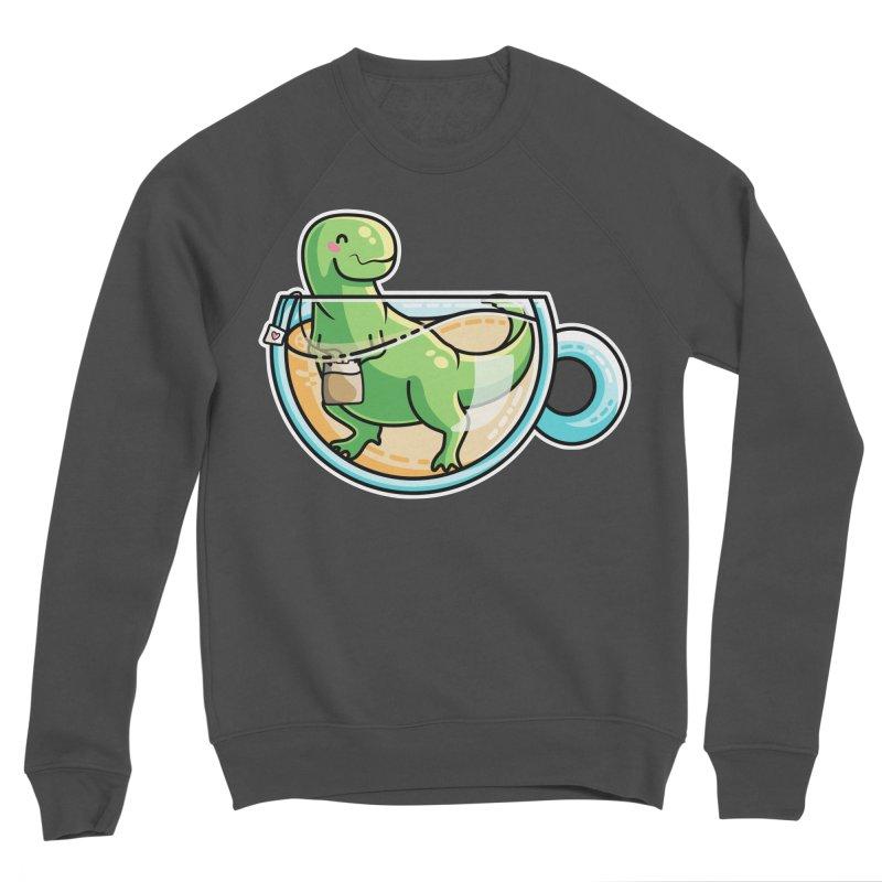 Tea Rex Women's Sponge Fleece Sweatshirt by Flaming Imp's Artist Shop