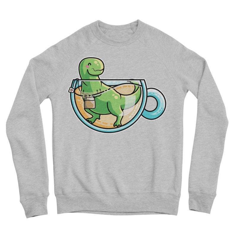 Tea Rex Men's Sponge Fleece Sweatshirt by Flaming Imp's Artist Shop