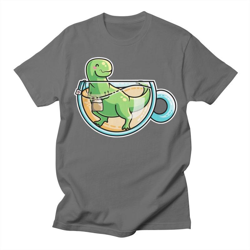 Tea Rex Men's T-Shirt by Flaming Imp's Artist Shop