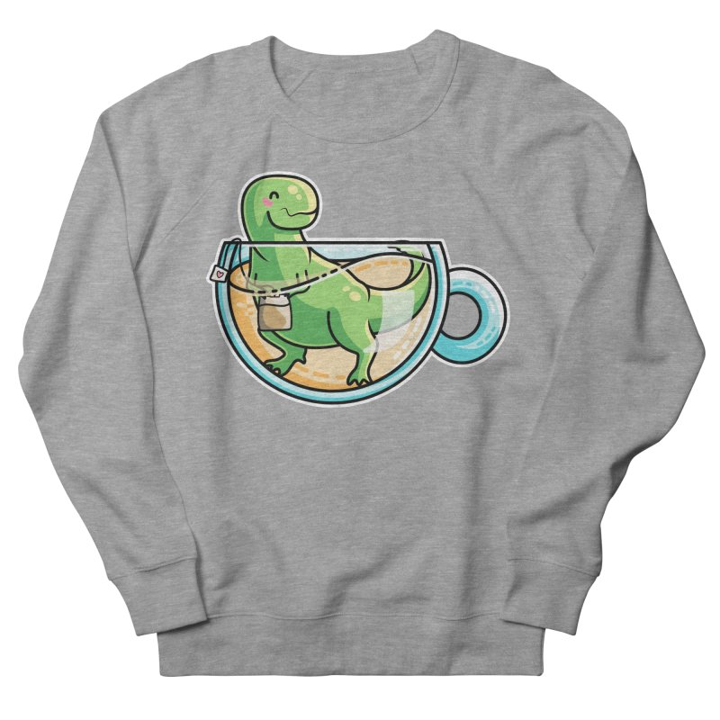 Tea Rex Women's French Terry Sweatshirt by Flaming Imp's Artist Shop