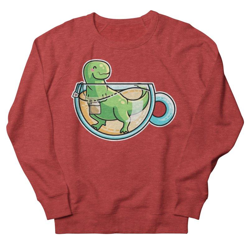 Tea Rex Men's French Terry Sweatshirt by Flaming Imp's Artist Shop