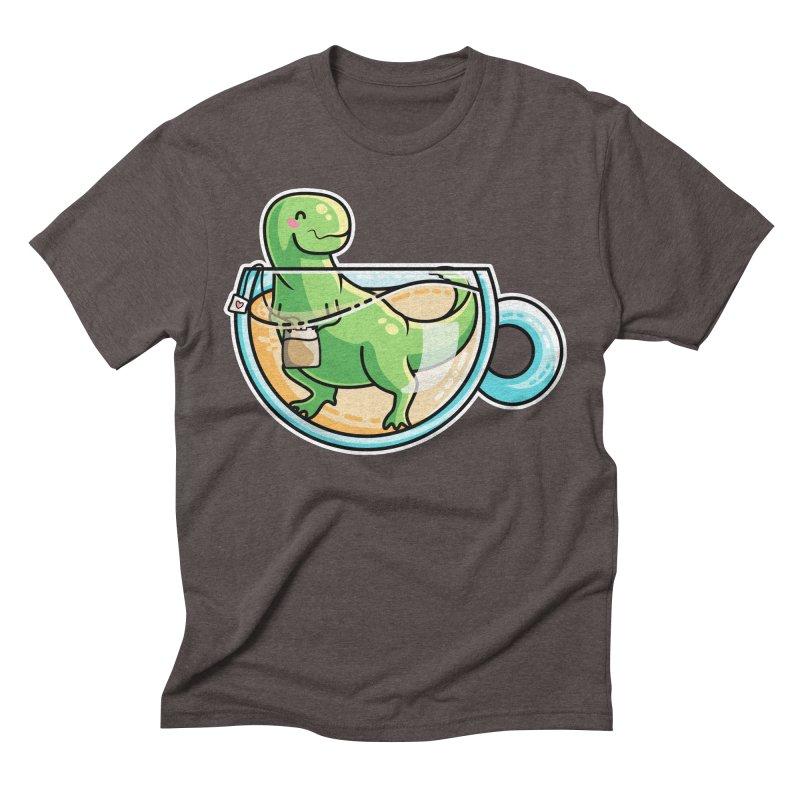Tea Rex Men's Triblend T-Shirt by Flaming Imp's Artist Shop