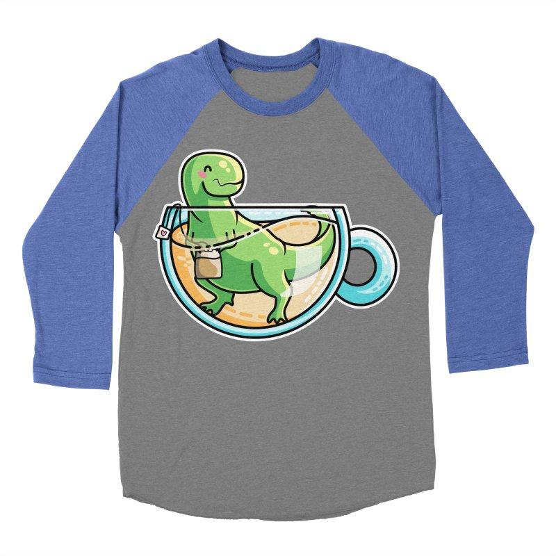 Tea Rex Women's Baseball Triblend Longsleeve T-Shirt by Flaming Imp's Artist Shop