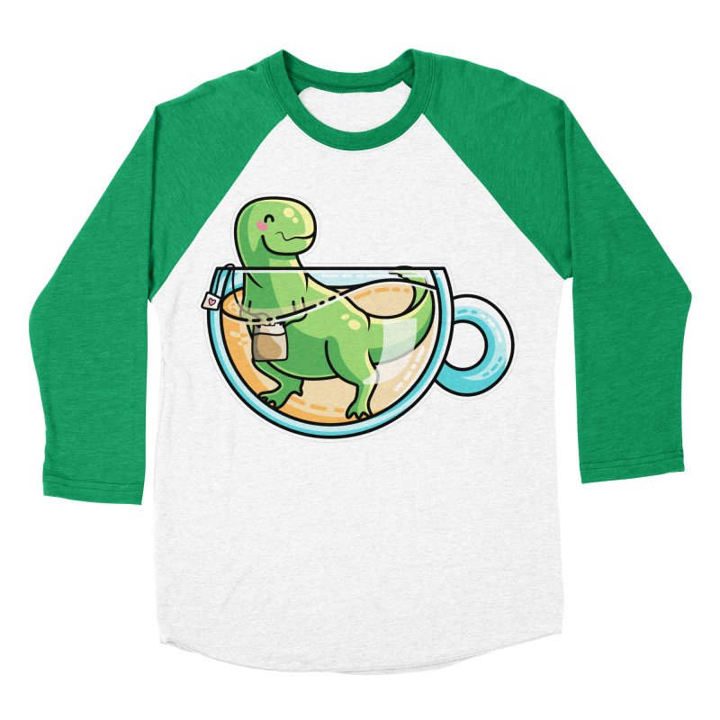 Tea Rex Men's Baseball Triblend Longsleeve T-Shirt by Flaming Imp's Artist Shop