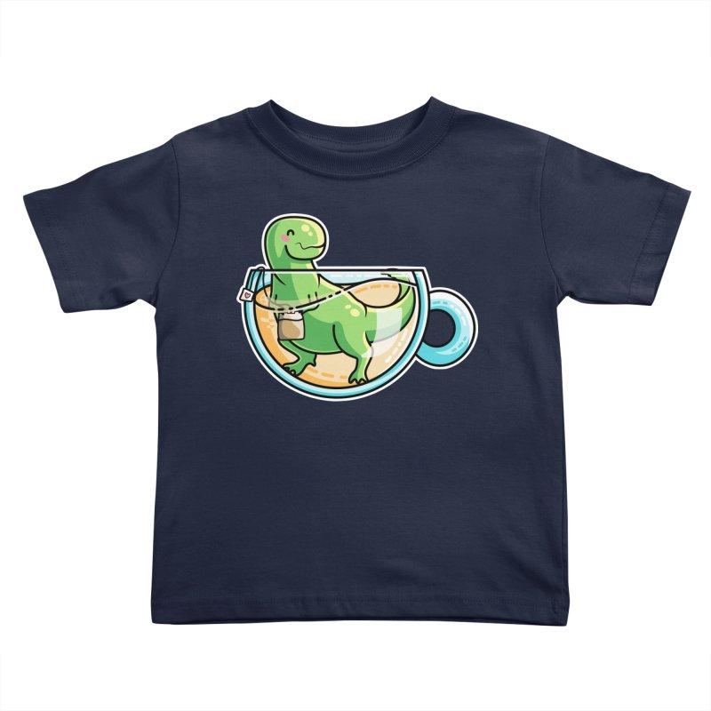 Tea Rex Kids Toddler T-Shirt by Flaming Imp's Artist Shop