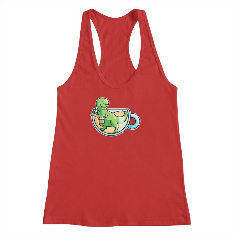 Tea Rex Women's Racerback Tank by Flaming Imp's Artist Shop