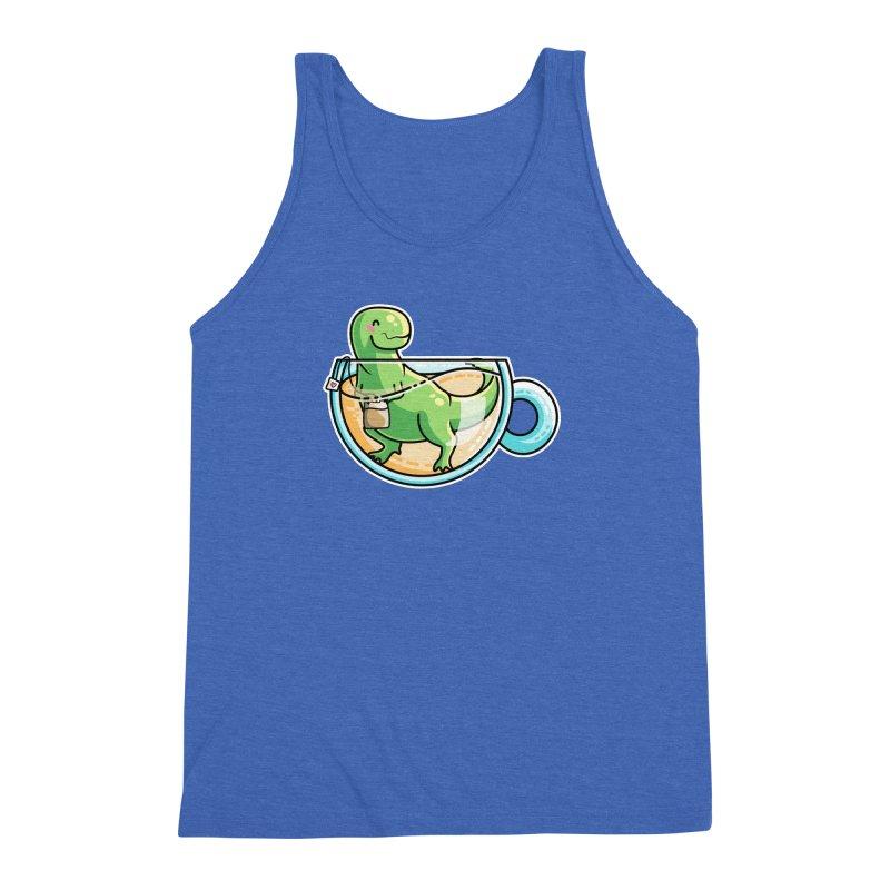 Tea Rex Men's Triblend Tank by Flaming Imp's Artist Shop