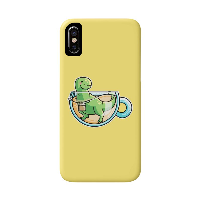 Tea Rex Accessories Phone Case by Flaming Imp's Artist Shop
