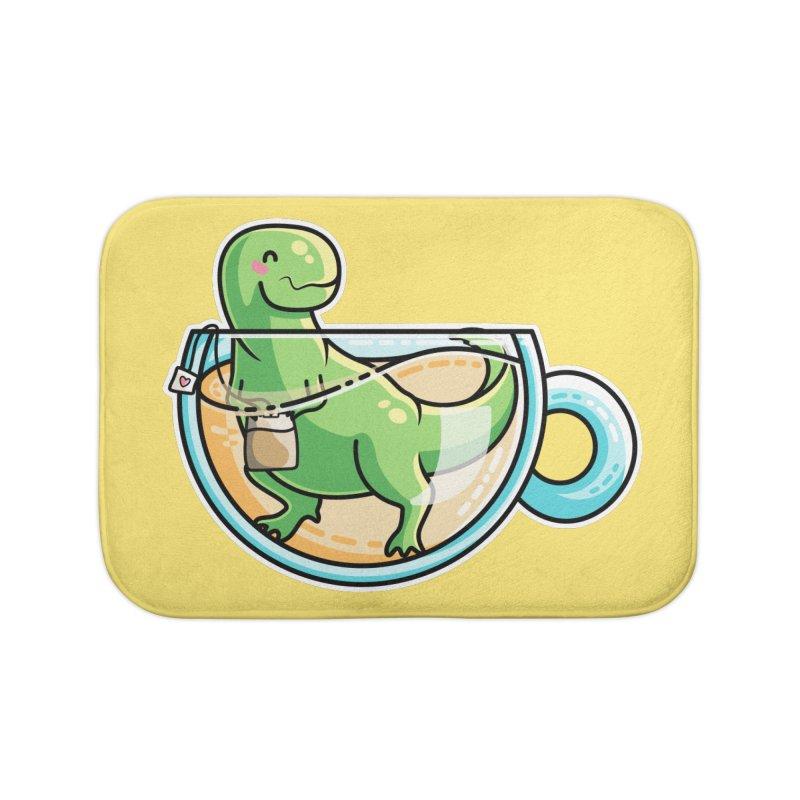 Tea Rex Home Bath Mat by Flaming Imp's Artist Shop