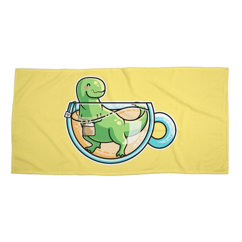 Tea Rex Accessories Beach Towel by Flaming Imp's Artist Shop