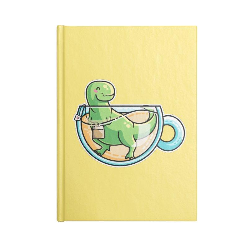 Tea Rex Accessories Blank Journal Notebook by Flaming Imp's Artist Shop