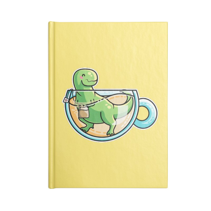 Tea Rex Accessories Lined Journal Notebook by Flaming Imp's Artist Shop