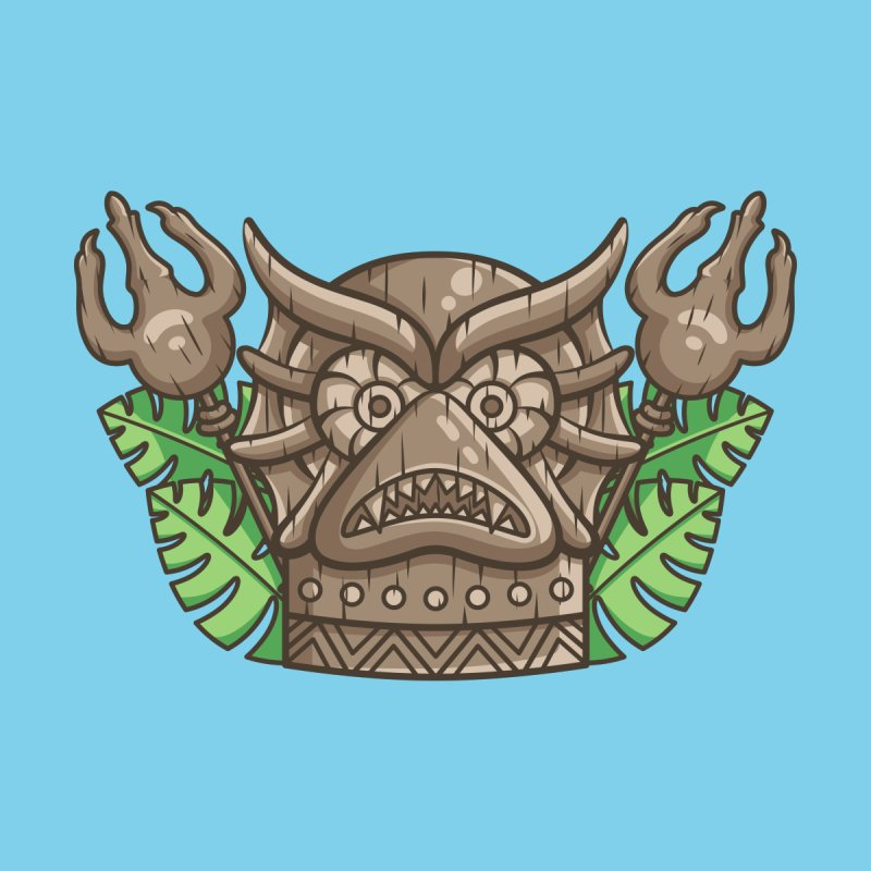 Mer-Man Tiki Men's T-Shirt by Flaming Imp's Artist Shop