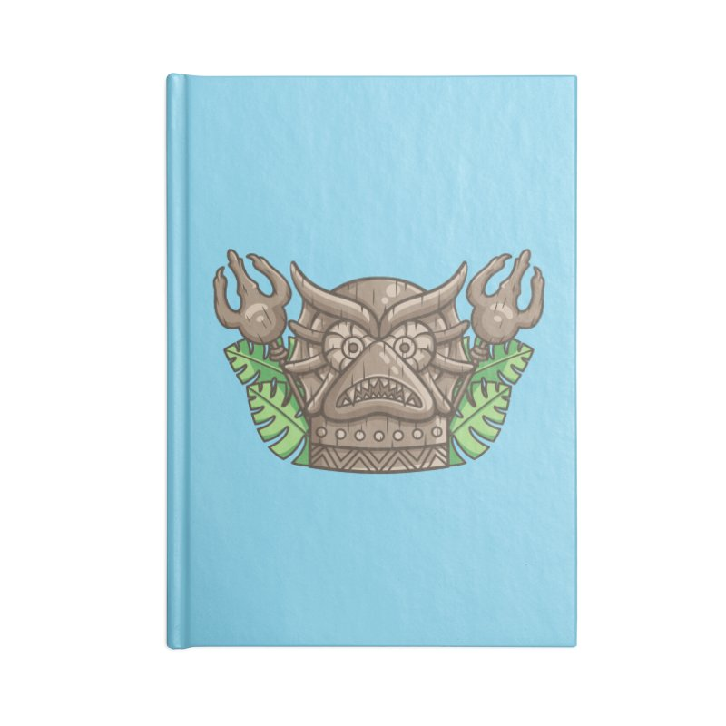 Mer-Man Tiki Accessories Blank Journal Notebook by Flaming Imp's Artist Shop