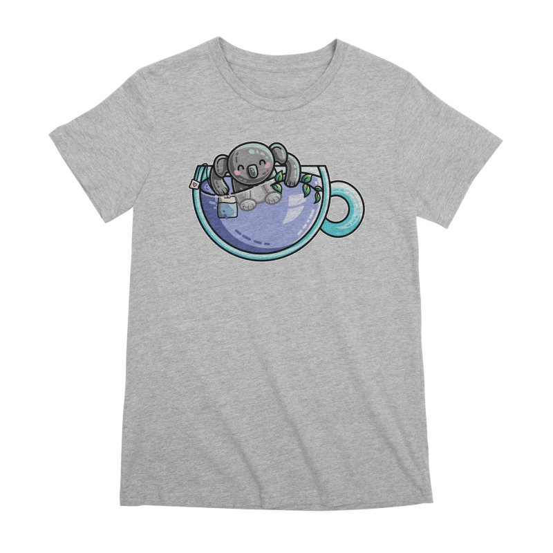 Quality Koala-Tea Pun Women's Premium T-Shirt by Flaming Imp's Artist Shop