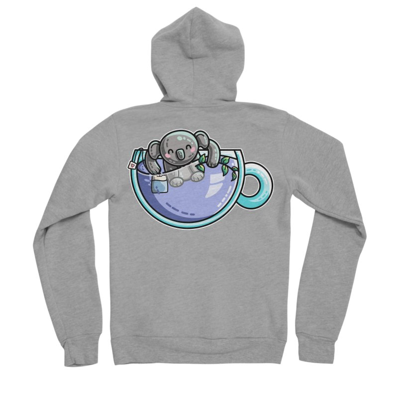 Quality Koala-Tea Pun Men's Sponge Fleece Zip-Up Hoody by Flaming Imp's Artist Shop