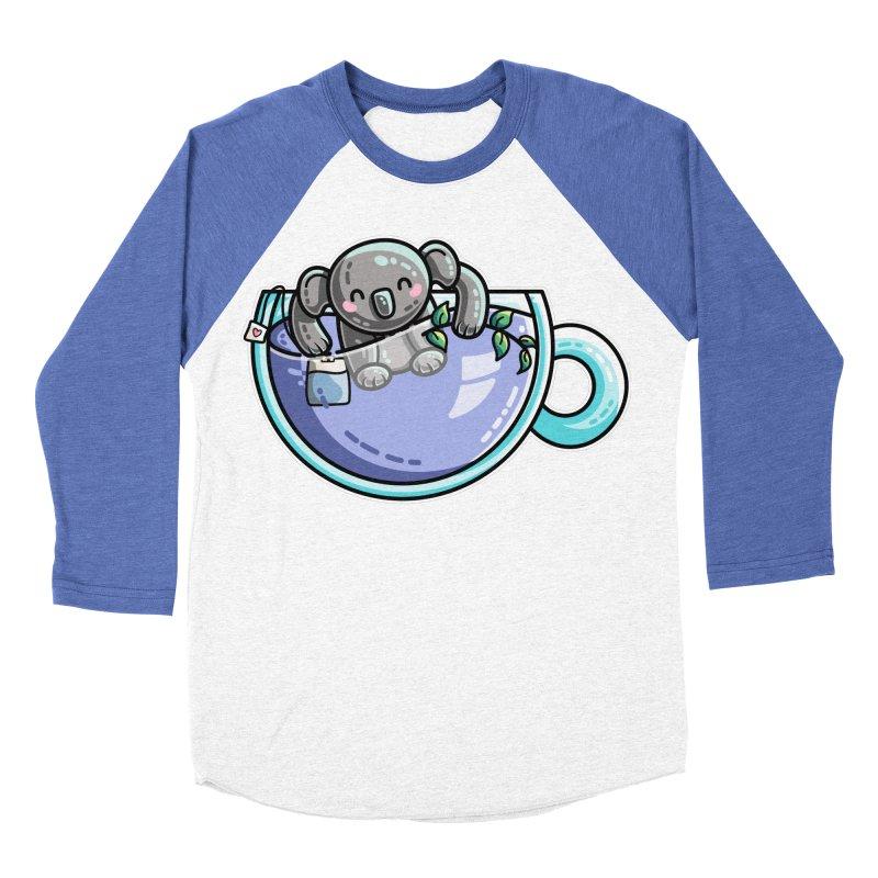 Quality Koala-Tea Pun Women's Baseball Triblend Longsleeve T-Shirt by Flaming Imp's Artist Shop