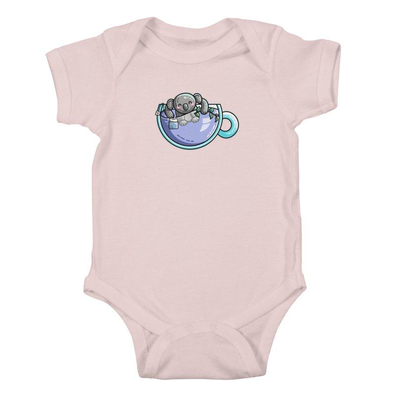 Quality Koala-Tea Pun Kids Baby Bodysuit by Flaming Imp's Artist Shop