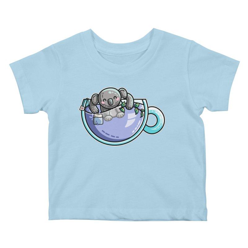 Quality Koala-Tea Pun Kids Baby T-Shirt by Flaming Imp's Artist Shop