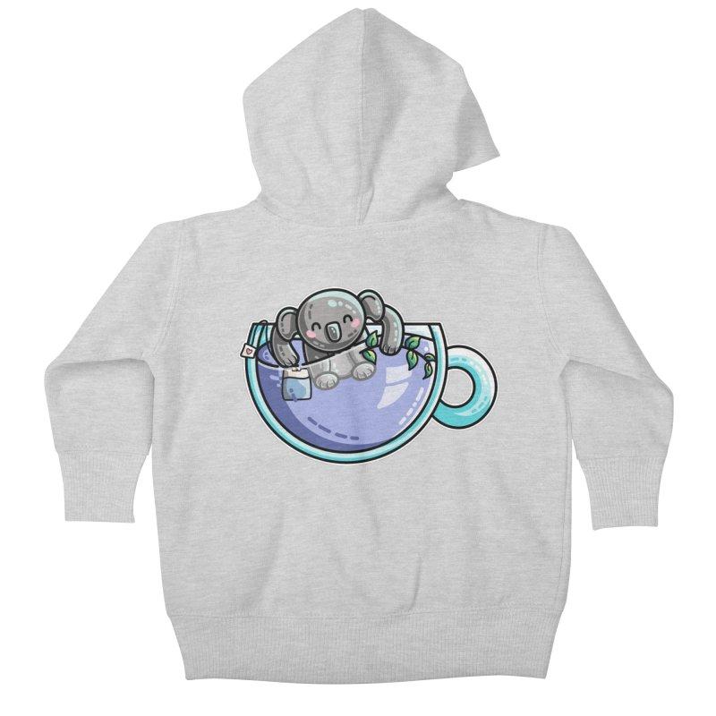Quality Koala-Tea Pun Kids Baby Zip-Up Hoody by Flaming Imp's Artist Shop