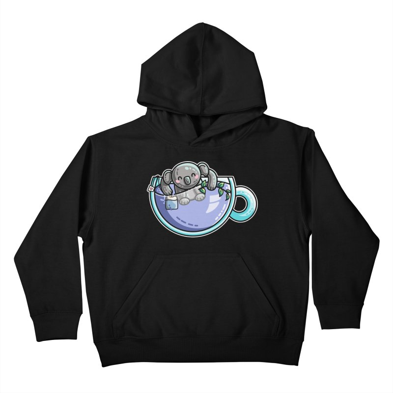 Quality Koala-Tea Pun Kids Pullover Hoody by Flaming Imp's Artist Shop