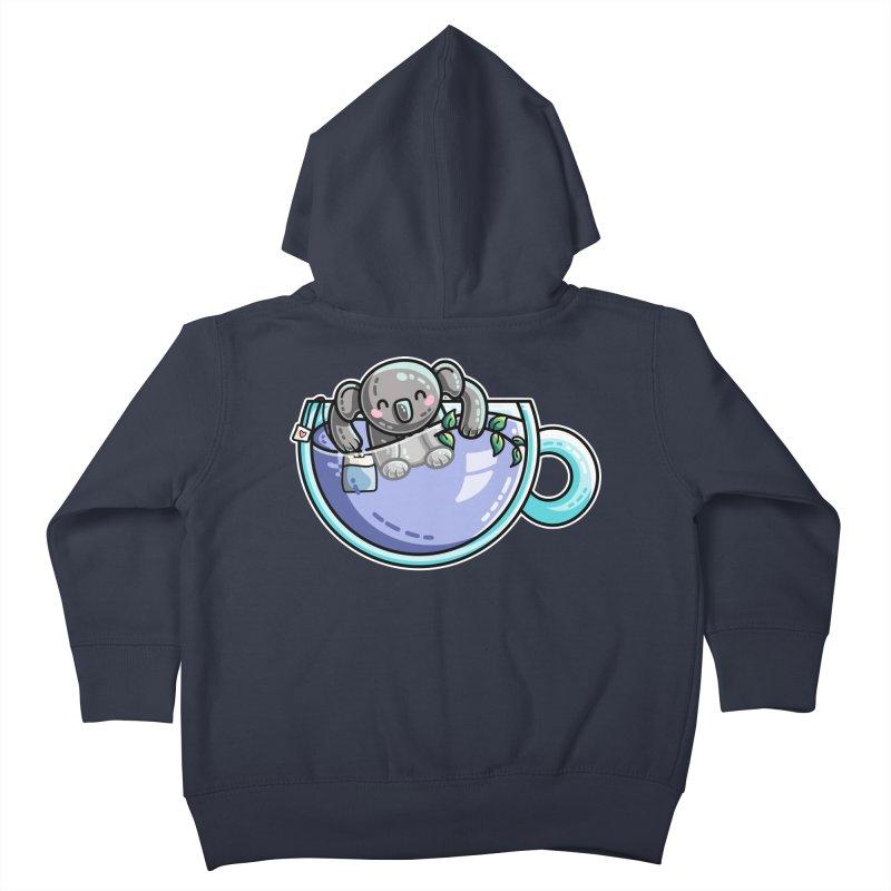 Quality Koala-Tea Pun Kids Toddler Zip-Up Hoody by Flaming Imp's Artist Shop