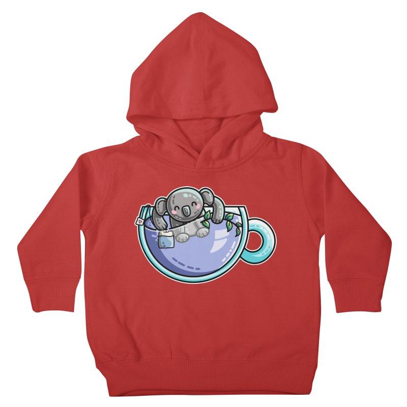 Quality Koala-Tea Pun Kids Toddler Pullover Hoody by Flaming Imp's Artist Shop