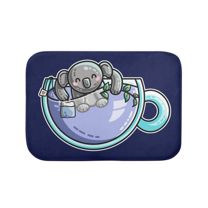 Quality Koala-Tea Pun Home Bath Mat by Flaming Imp's Artist Shop