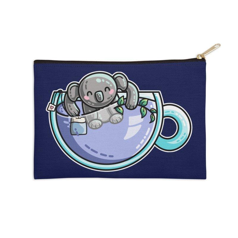 Quality Koala-Tea Pun Accessories Zip Pouch by Flaming Imp's Artist Shop