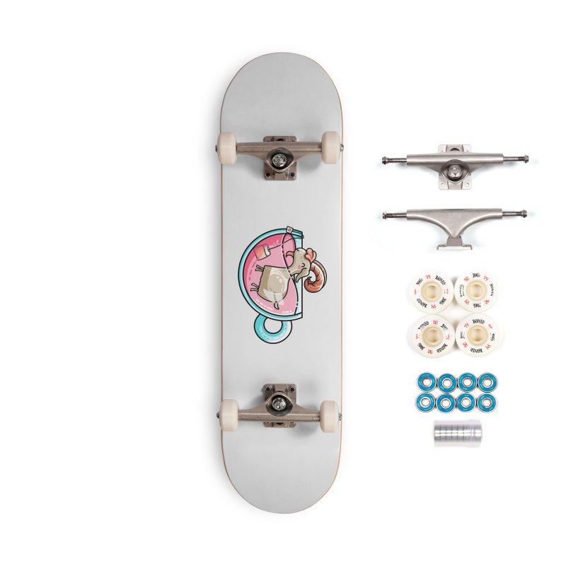 Goat-tea Kawaii Cute Tea Goatee Pun Accessories Complete - Premium Skateboard by Flaming Imp's Artist Shop