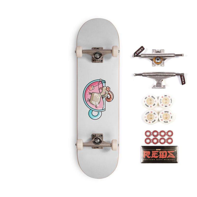 Goat-tea Kawaii Cute Tea Goatee Pun Accessories Complete - Pro Skateboard by Flaming Imp's Artist Shop