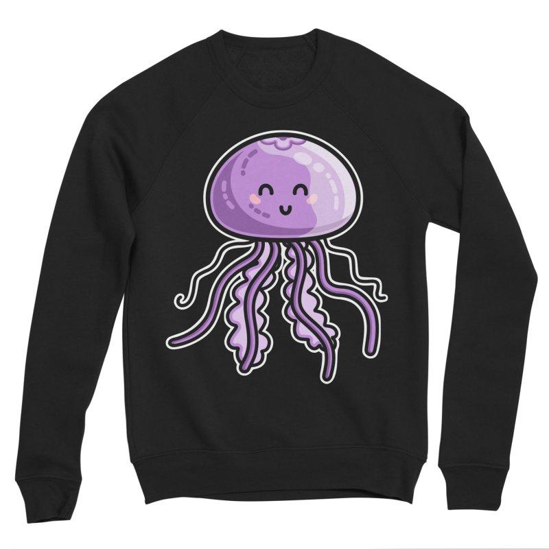 Kawaii Cute Jellyfish Women's Sponge Fleece Sweatshirt by Flaming Imp's Artist Shop