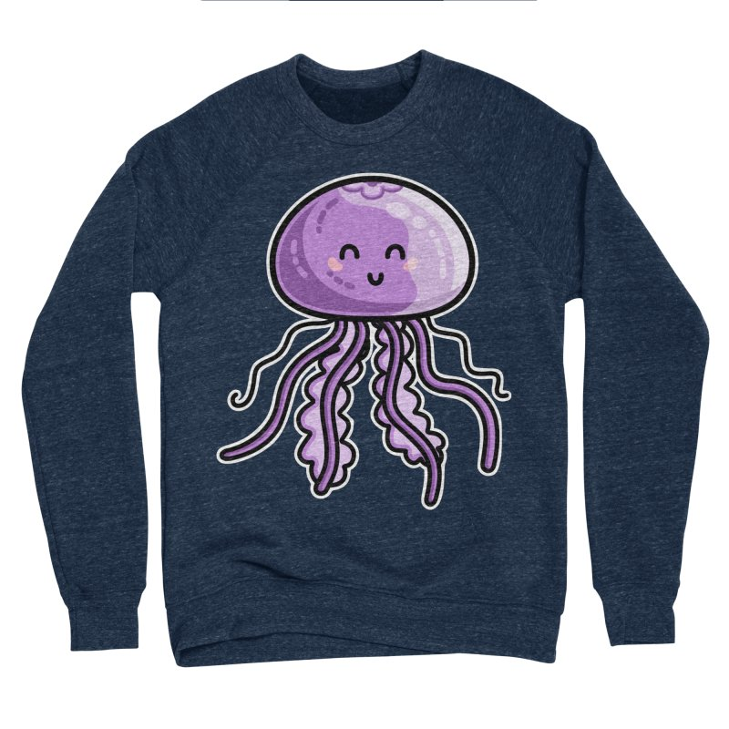Kawaii Cute Jellyfish Men's Sponge Fleece Sweatshirt by Flaming Imp's Artist Shop