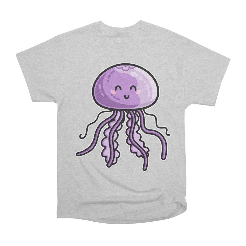 Kawaii Cute Jellyfish Men's Heavyweight T-Shirt by Flaming Imp's Artist Shop