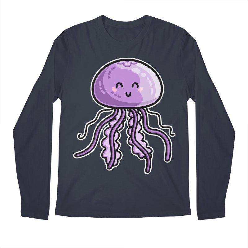 Kawaii Cute Jellyfish Men's Regular Longsleeve T-Shirt by Flaming Imp's Artist Shop